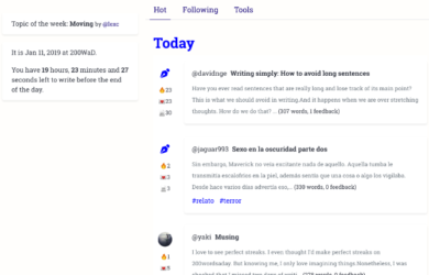 200 words per day writing habits with community support in Slack