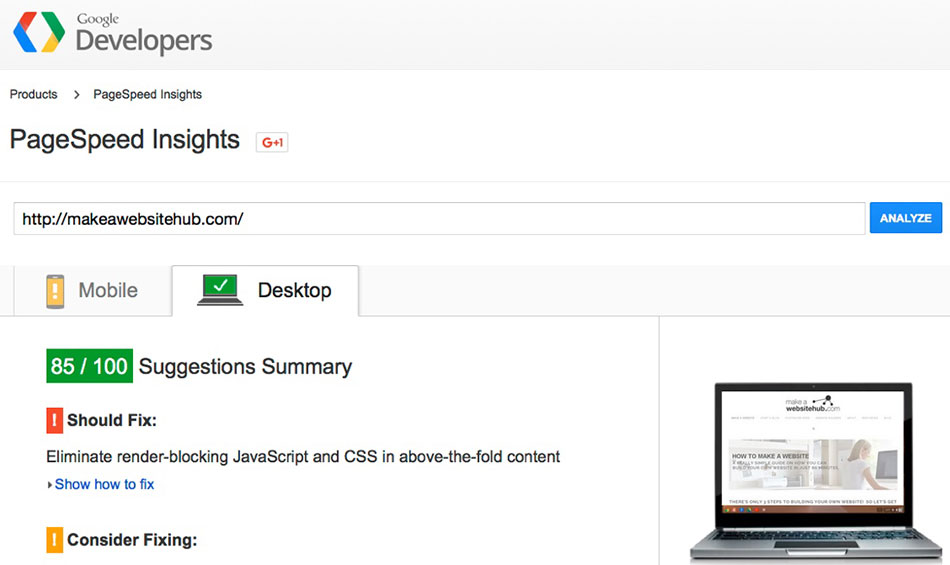 Accelerate WordPress Page-Speed-Insights