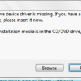 The CD-DVD driver is missing