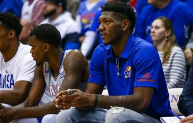 Kansas Jayhawks referred Silvio De Sousa to the bank during a November game