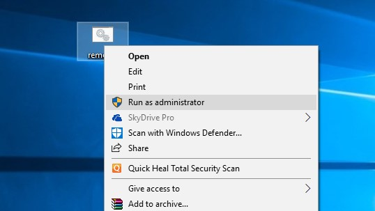 Run the batch file as the administrator