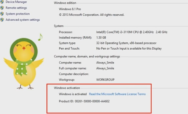 Activate windows-windows-8 without product key