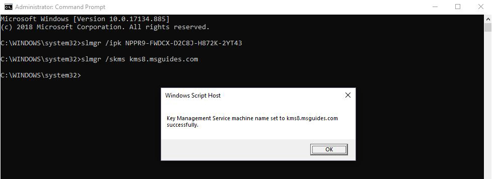 Windows 10 Activation-KMS Server Connection