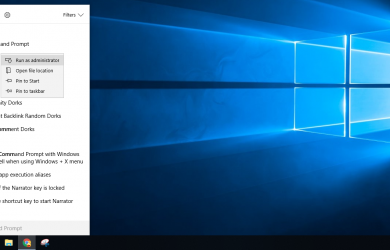How to activate Windows 10 Run Command as administrator