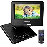 DBPOWER Player 10.5-inch portable DVD with rechargeable battery, SD card slot and USB port - Black